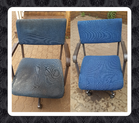 Upholstery cleaning - Before and after picture