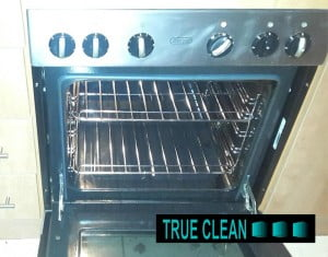 oven after being cleaned by true clean