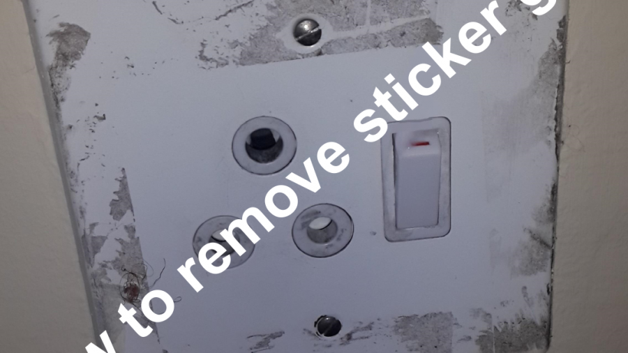 how to remove sticker glue